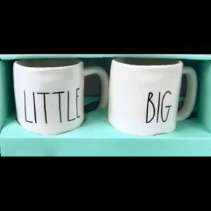RARE! ORIGINAL RAE DUNN LITTLE BIG MUG SET